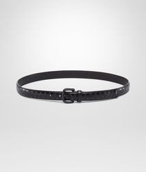 BOTTEGA VENETA - Belts, Nero Intreccio Scolpito Belt