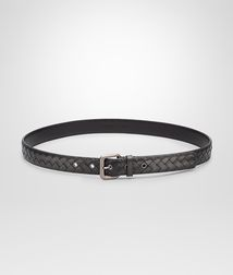 BOTTEGA VENETA - Accessories, Nero Intrecciato VN Belt
