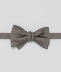 BOTTEGA VENETA - Ties, Graphite Silk Bow Tie