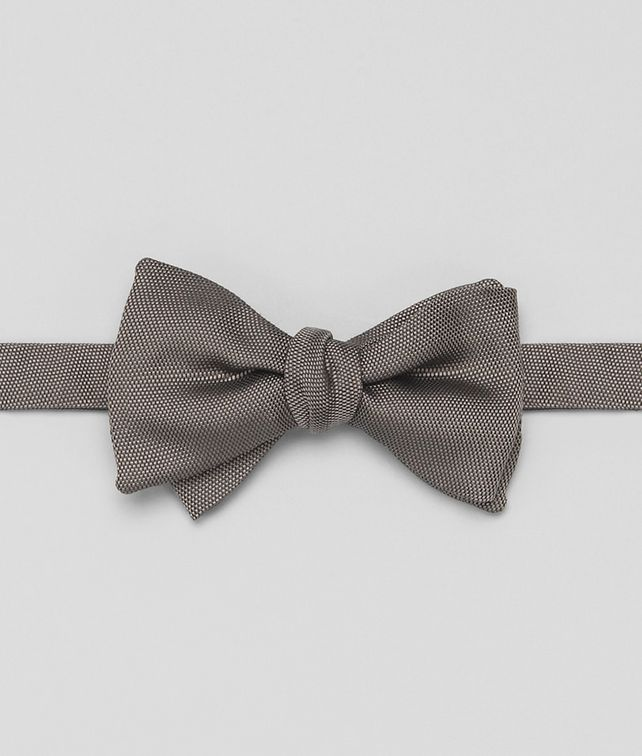 BOTTEGA VENETA Graphite Silk Bow Tie Tie or bow tie U fp