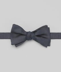 BOTTEGA VENETA - Ties, Navy Silk Bow Tie