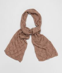 BOTTEGA VENETA - Scarves, Light Brown Silk Cotton Scarf
