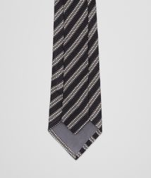BOTTEGA VENETA - Ties, Black Grey Silk Tie
