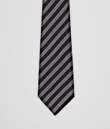 BOTTEGA VENETA - Accessories, Black Grey Silk Tie