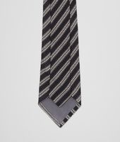 Black Grey Silk Tie