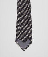 Cravatta Nera Grigia in Seta