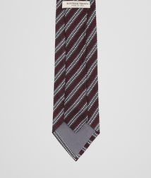 BOTTEGA VENETA - Accessories, Amaranth Dark Grey Silk Tie