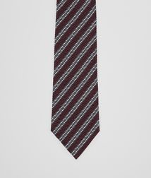 BOTTEGA VENETA - Ties, Amaranth Dark Grey Silk Tie