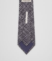 BOTTEGA VENETA - Accessories, Midnight Blue Beige Silk Tie