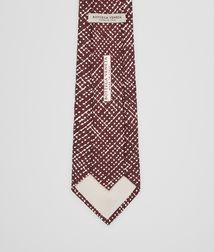 BOTTEGA VENETA - Accessories, Amaranth Beige Silk Tie