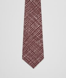 BOTTEGA VENETA - Ties, Amaranth Beige Silk Tie