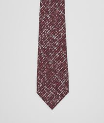 BOTTEGA VENETA - Accessories, Coffee Bordeaux Silk Tie