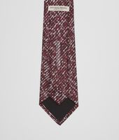 Coffee Bordeaux Silk Tie