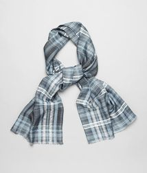 BOTTEGA VENETA - Accessories, Midnight Blue Sky Silk Scarf