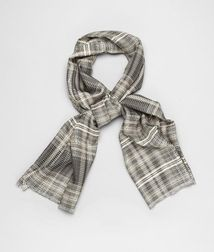 BOTTEGA VENETA - Scarves, Black Beige Silk Scarf