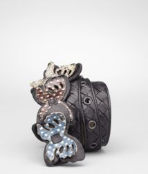 BOTTEGA VENETA - Accessories, Nero Multicolor Intrecciato Ayers Butterfly Belt