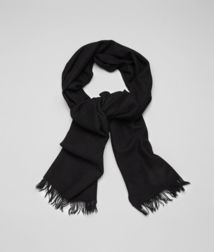 BOTTEGA VENETA - Accessories, Black Cashmere Silk Scarf