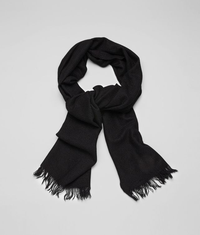 SCARF IN NERO CASHMERE SILK