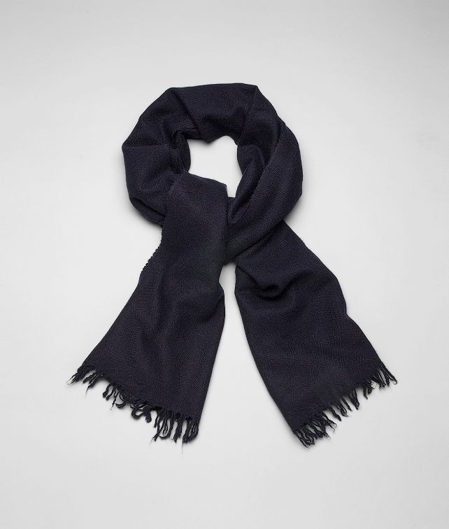 BOTTEGA VENETA SCARF IN MIDNIGHT BLUE CASHMERE SILK Scarf or Hat or Glove U fp