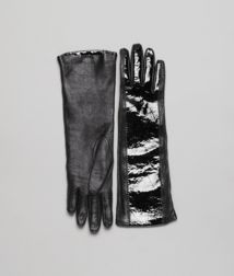 BOTTEGA VENETA - Accessories, Nero Soft Nappa Mirror Lambskin Gloves