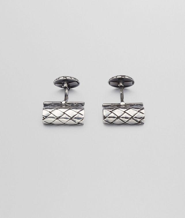 Intrecciato Oxydized Silver Cufflinks