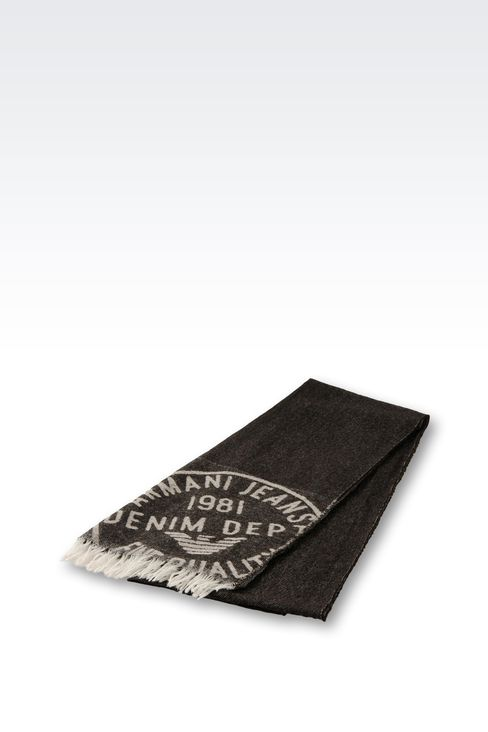 WOOL AND CASHMERE SCARF: Scarves Men by Armani - 2