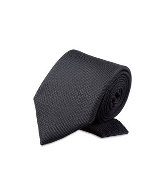 ERMENEGILDO ZEGNA: Tie Black - Dark brown - 46306122HN