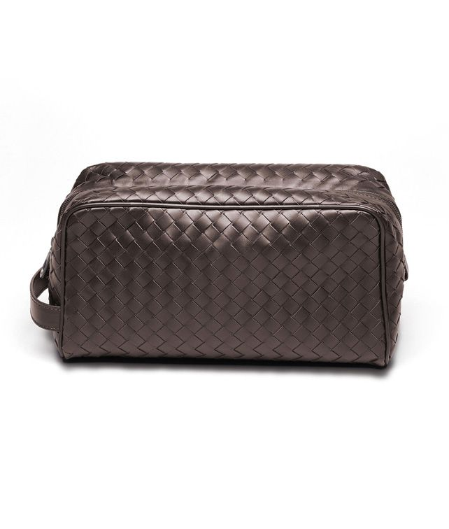 BOTTEGA VENETA BEAUTY CASE IN EBANO INTRECCIATO VN Other Leather Accessory D fp