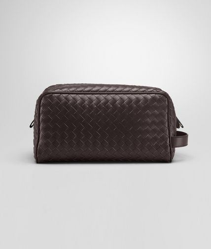 BOTTEGA VENETA - Ebano Intrecciato VN Toiletry Case