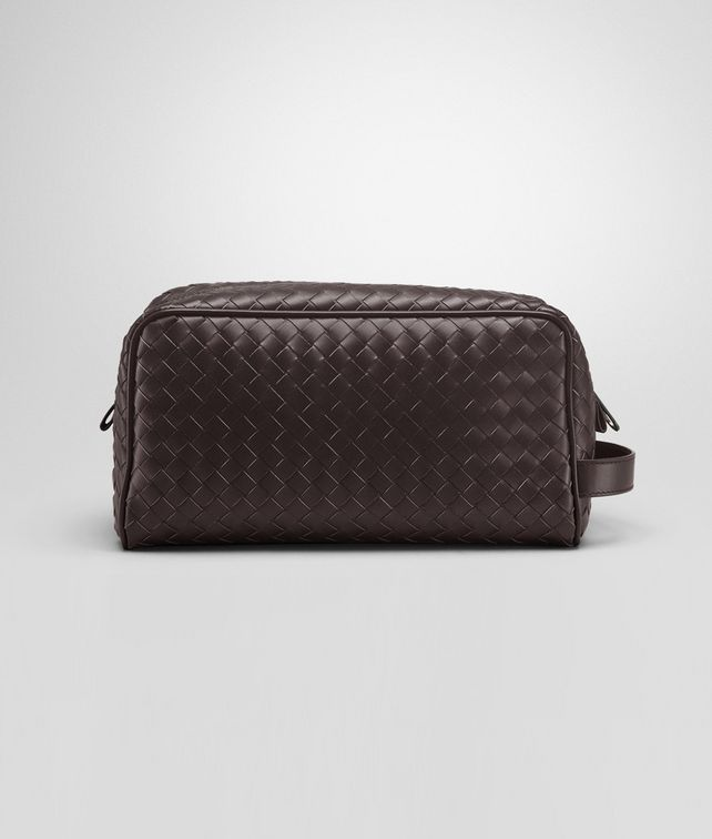 BOTTEGA VENETA Ebano Intrecciato VN Toiletry Case Small bag U fp