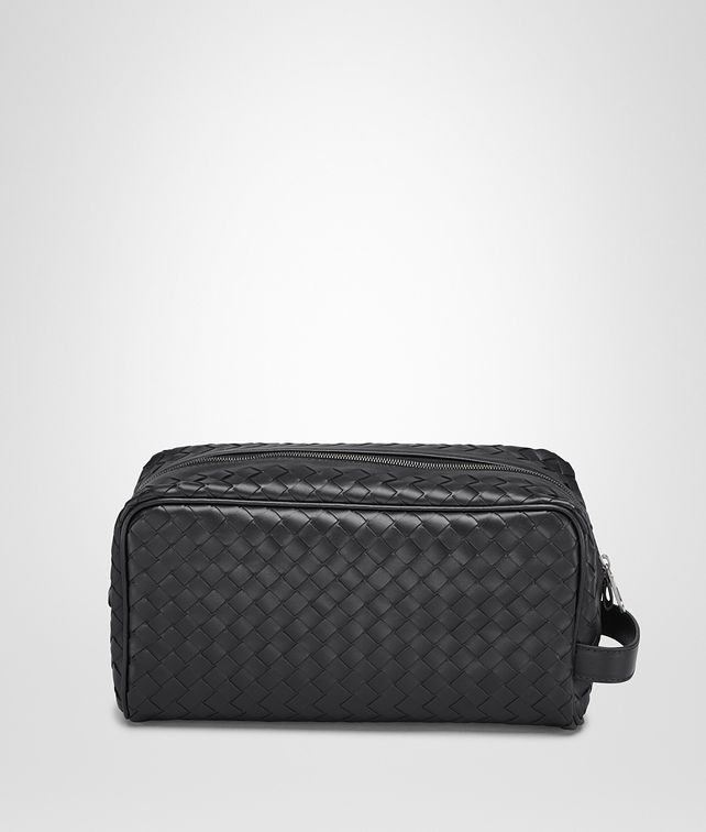 BOTTEGA VENETA TOILETRY CASE IN NERO INTRECCIATO VN Small bag U fp