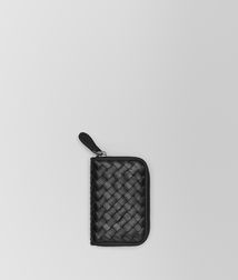 BOTTEGA VENETA - Card Cases and Coin Purses, Nero Intrecciato VN Coin Purse
