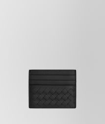 BOTTEGA VENETA - Card Cases and Coin Purses, Nero Intrecciato Vn Card Case