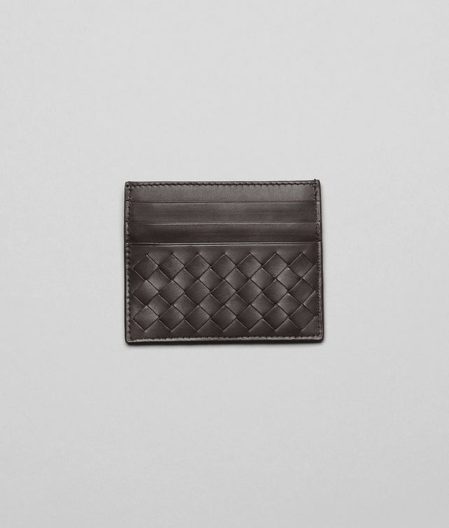 BOTTEGA VENETA Ebano Intrecciato Vn Card Case Card Case or Coin Purse U fp