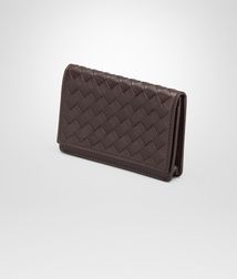 BOTTEGA VENETA - Card Cases and Coin Purses, Ebano Intrecciato Vn Business Card Case
