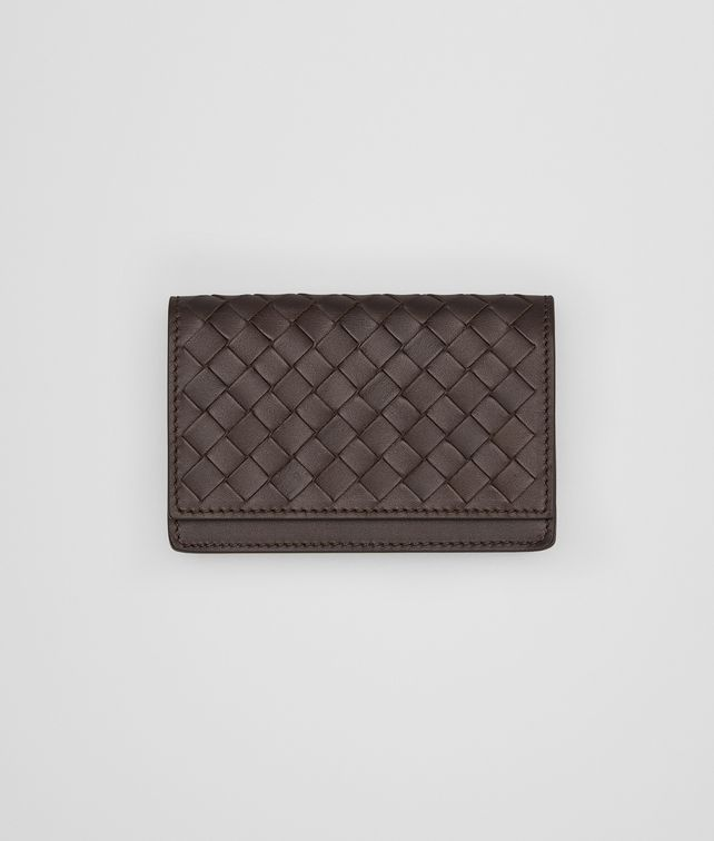 BOTTEGA VENETA Ebano Intrecciato Vn Business Card Case Card Case or Coin Purse U fp