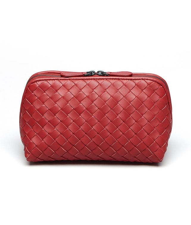 Blood Intrecciato Nappa Cosmetic Case