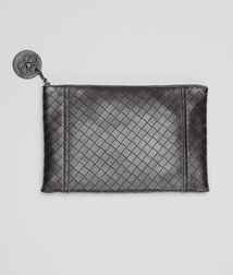 BOTTEGA VENETA - Card Cases and Coin Purses, Nero Intrecciomirage Document Case