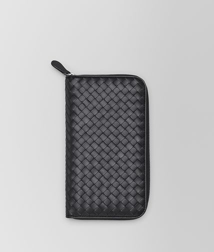 BOTTEGA VENETA - Nero Intrecciato VN Zip Around Wallet