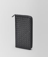 Nero Intrecciato VN Zip Around Wallet