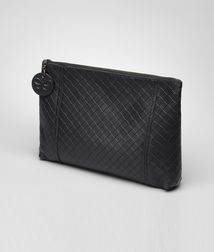 BOTTEGA VENETA - Cosmetic Cases, Nero Intrecciomirage Cosmetic Case