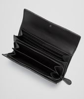 CONTINENTAL WALLET IN NERO INTRECCIATO NAPPA AND AYERS