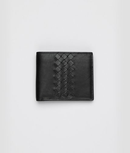 BOTTEGA VENETA - Nero Light Calf Intrecciato Wallet