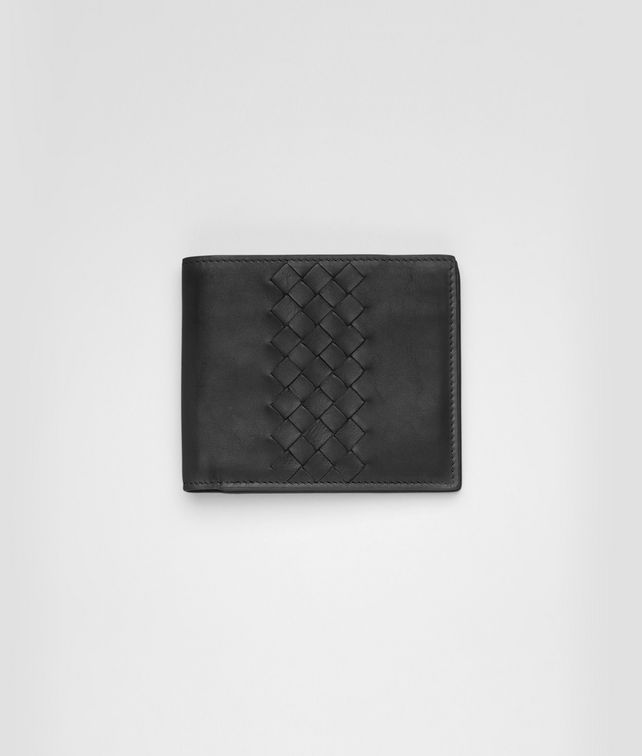 BOTTEGA VENETA Nero Intrecciato Light Calf Wallet Bi-fold Wallet U fp