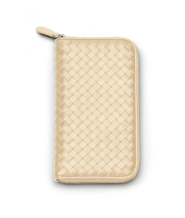 ZIP AROUND WALLET IN ANTIQUE INTRECCIATO NAPPA