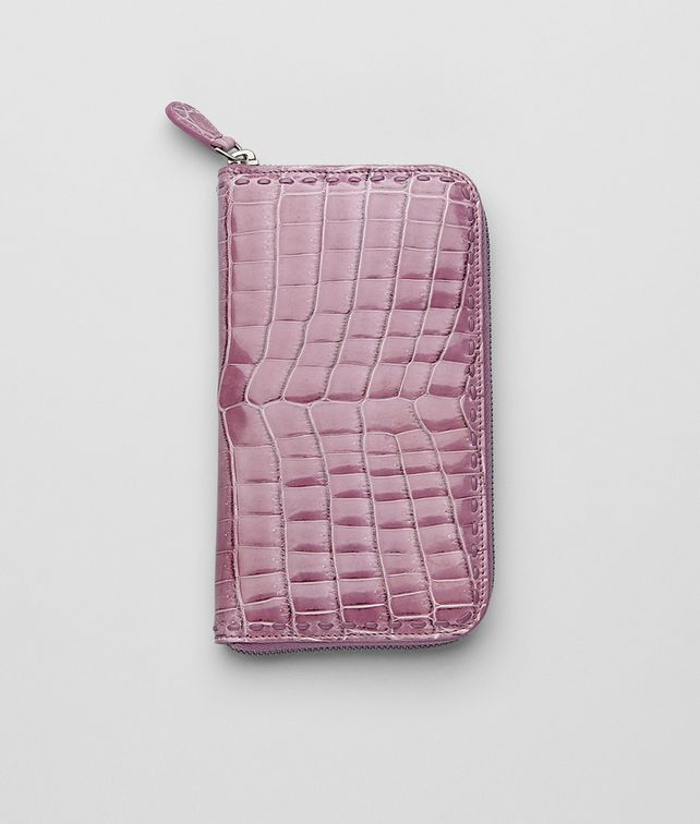 ZIP AROUND WALLET IN COROT CROCODILE