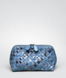 BOTTEGA VENETA - Cosmetic Cases, Krim Intrecciato Ayers Nappa Cosmetic Case