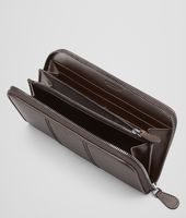 Ebano Intreccio Scolpito Zip Around Wallet