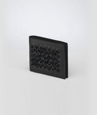 Nero Intrecciato Crocodile Fume Wallet
