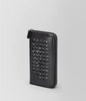 Nero Light Calf Soft Crocodile Zip Around Wallet